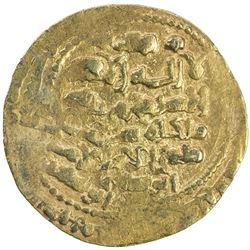 GHAZNAVID: Mas'ud III, 1099-1115, AV dinar (5.50g), Ghazna, AH492. EF