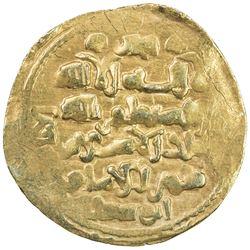 GHAZNAVID: Mas'ud III, 1099-1115, AV dinar (4.87g) (Ghazna), AH(492). VF