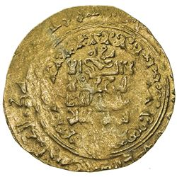 GREAT SELJUQ: Sanjar, 1118-1157, pale AV dinar (3.18g) (Herat), DM. VF