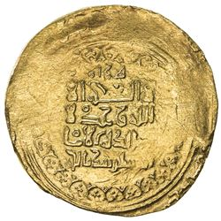 GREAT SELJUQ: Sanjar, 1118-1157, pale AV dinar (3.87g), Herat, AH(5)17. VF