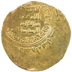 GREAT SELJUQ: Sanjar, 1118-1157, pale AV dinar (3.48g), Herat, AH520. EF