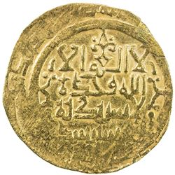 GREAT SELJUQ: Sanjar, 1118-1157, pale AV dinar (3.68g), MM, DM. VF