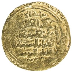 GREAT SELJUQ: Sanjar, 1118-1157, pale AV dinar (2.44g), MM, DM. VF