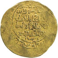GHORID: Mu'izz al-Din Muhammad, 1171-1206, AV dinar (4.27g), (Ghazna), AH573. VF