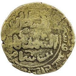 GHORID: Taj al -Din Yildiz, 1206-1215, debased AV dinar (4.05g), (Ghazna), AH612. F-VF
