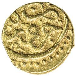 QALHATI AMIR: temp. Turanshah II, 1437-1456 AH, AV 1/2 dinar (1.25g), Jarun, AH84x. EF
