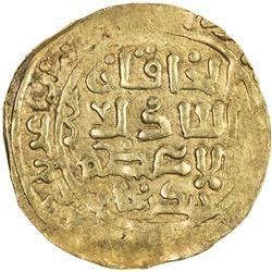 GREAT MONGOLS: Chingiz Khan, 1206-1227, AV dinar (4.71g), Ghazna, AH(618). VF-EF