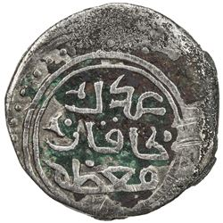 GREAT MONGOLS: Chingiz Khan, 1206-1227, AR dirham (3.01g), Kurraman, ND. VF