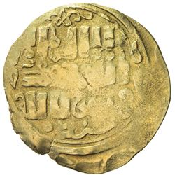 GREAT MONGOLS: Anonymous, ca. 1220-1250, AV dinar (3.08g), Khujanda, ND. VF