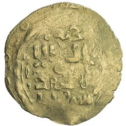 GREAT MONGOLS: Anonymous, ca. 1220-1250, AV dinar (2.35g), Khujanda, ND. VF