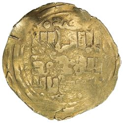 GREAT MONGOLS: after Chingiz Khan, ca. 1225-1250, AV dinar (4.55g), Khujanda, ND. F