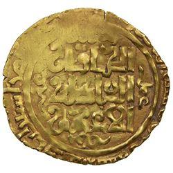 GREAT MONGOLS: temp. Ogedei, 1227-1241, AV dinar (2.03g), Astarabad, AH632. EF