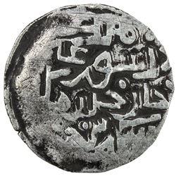 CHAGHATAYID KHANS: Suyurghatmish, 1370-1388, AR 1/6 dinar (0.96g), NM, ND. VF