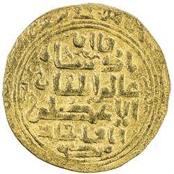 ILKHAN: Abaqa, 1265-1282, AV dinar (6.28g), Hamadan, DM. VF