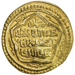 ILKHAN: Abu Sa'id, 1316-1335, AV dinar (9.20g), Bazar, AH723. VF