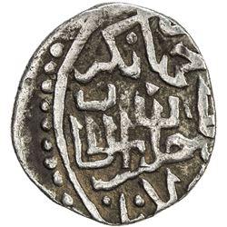 TIMURID: Khalil Sultan, 1405-1409, AR miri ( 1/4 tanka) (1.54g), Samarqand, ND. VF