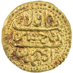 SAFAVID: Sultan Husayn, 1694-1722, AV ashrafi (2.97g), Isfahan, AH1134. EF