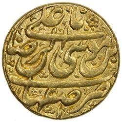 AFSHARID: Ibrahim, 1748, AV mohur (10.95g), Isfahan, AH1161. EF