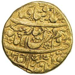 ZAND: Karim Khan, 1753-1779, AV mohur (10.75g), Kirman, AH(11)74. F-VF