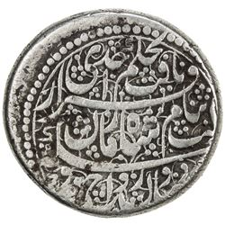 DURRANI: Shah Zaman, 1793-1801, AR double rupee (22.83g), Ahmadshahi (Qandahar), AH1214 year 8. F-VF