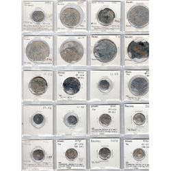 BRUNEI: LOT of 29 tin pitis coins from the late 18th and first half of the 19th century