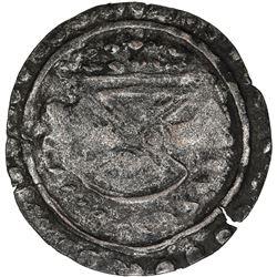 SRIKSHETRA: silver-washed AE unit (8.10g), probably late 6th century. VF