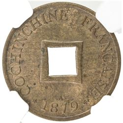 FRENCH COCHINCHINA: AE sapeque, 1879. NGC MS62