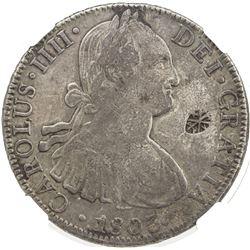 SUMENEP: Sultan Paku Nata Ningra, 1811-1854, AR 8 reales. NGC VF30