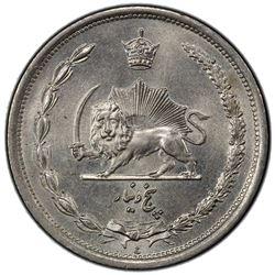 IRAN: Reza Shah, 1925-1941, 5 dinars, SH1310. PCGS MS65