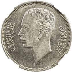 IRAQ: Ghazi I, 1933-1939, AR 50 fils, 1938/AH1357. NGC AU58