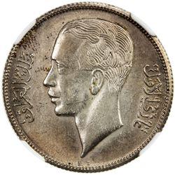 IRAQ: Ghazi I, 1933-1939, AR 50 fils, 1938-I/AH1357. NGC MS61