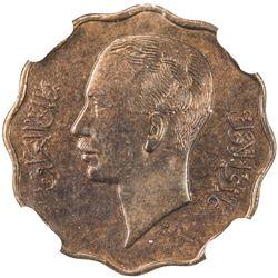IRAQ: Ghazi I, 1933-1939, bronze 4 fils, 1938/AH1357. NGC MS63