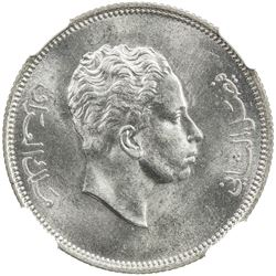 IRAQ: Faisal II, 1939-1958, AR 50 fils, 1955/AH1375. NGC MS64