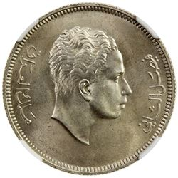 IRAQ: Faisal II, as King, 1953-1958, AR 100 fils, 1953//AH1372. NGC MS65