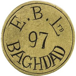 IRAQ: brass token (11.79g). VF-EF