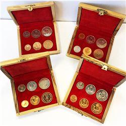 JORDAN: Hussein Ibn Talal, 1952-1999, 6-coin proof set, 1965/AH1385