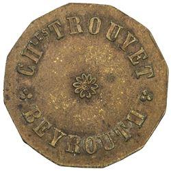 LEBANON: 20 paras token (4.26g), ND [ca. 1920?]. VF