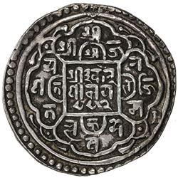 PATAN: Ranajit Malla, 1762-1763, AR mohar (5.39g), NS882. VF