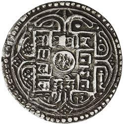 NEPAL: Rana Bahadur, 1777-1799, AR 2 mohars (10.88g), SE1712. VF