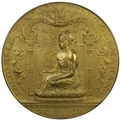 NETHERLANDS EAST INDIES: gilt AE medal, 1914. UNC