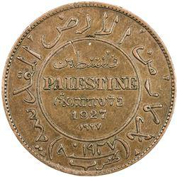 PALESTINE: AR mil token, 1927. EF