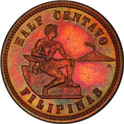 PHILIPPINES: U.S. Territory, AE 1/2 centavo, 1903. PCGS PF66