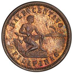 PHILIPPINES: U.S. Territory, AE 1/2 centavo, 1904. PCGS PF62