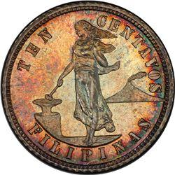 PHILIPPINES: U.S. Territory, AR 10 centavos, 1903. PCGS PF64