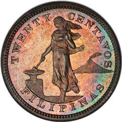 PHILIPPINES: U.S. Territory, AR 20 centavos, 1903. PCGS PF65