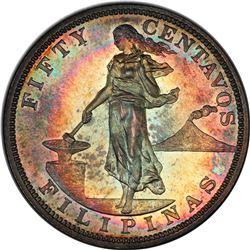 PHILIPPINES: U.S. Territory, AR 50 centavos, 1903. PCGS PF65