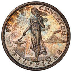 PHILIPPINES: U.S. Territory, AR 50 centavos, 1904. PCGS PF62