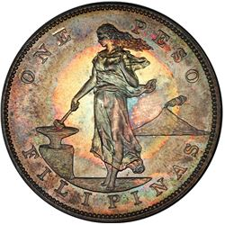 PHILIPPINES: U.S. Territory, AR peso, 1903. PCGS PF64