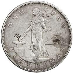 PHILIPPINES: U.S. Territory, AR peso, 1903-S. VF