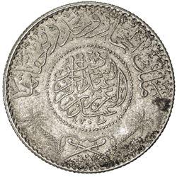 HEJAZ & NEJD: Abd al-Aziz b. Sa'ud, 1926-1953, AR 1/2 riyal, Makka al-Mukarrama (Mecca), AH1346. VF-